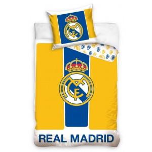Žlté bavlnené posteľné obliečky REAL MADRID