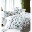 Biele obojstranné posteľné obliečky s ružami
