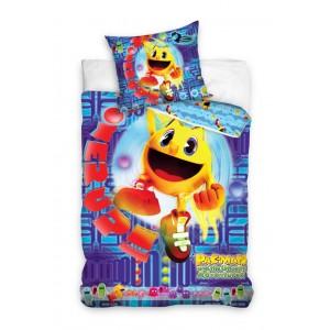 Fialové detské posteľné obliečky PACMAN