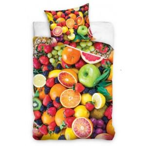 Detské bavlnené posteľné obliečky s ovocím
