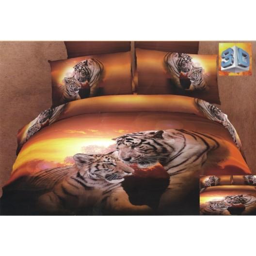 Bavlnené posteľné obliečky s motívom tigrov