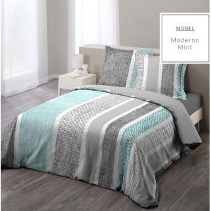 Sivé bavlnené posteľné obliečky 200cm x 220cm