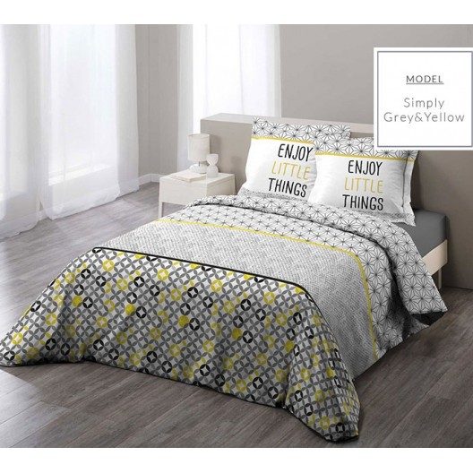 Žlté bavlnené posteľné obliečky v nórskom štýle