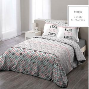 Moderné bavlnené posteľné obliečky v severskom štýle