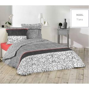 Súprava sivých bavlnených posteľných obliečok 200x220cm