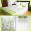 Zelené dekoračné sety do spálne so vzorom