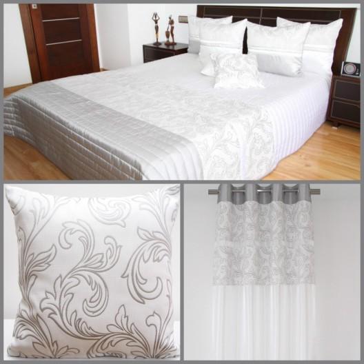 Biela luxusná dekoračná zostava do spálne