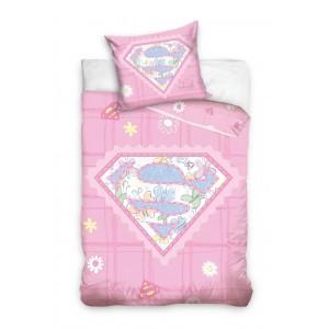 SUPERMAN posteľné obliečky pre dievčatká