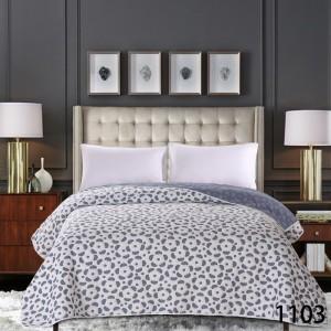 Sivý prehoz na posteľné so vzorom kvetov