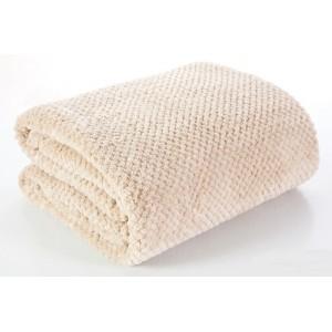 Kvalitné béžové deky na posteľ 170x210 cm