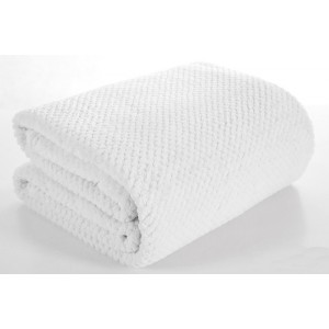 Biela teplá deka do obývačky