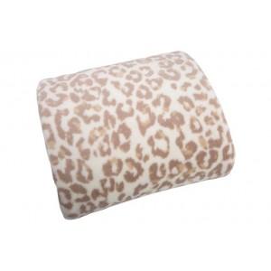 Luxusná krémová deka s gepardím vzorom