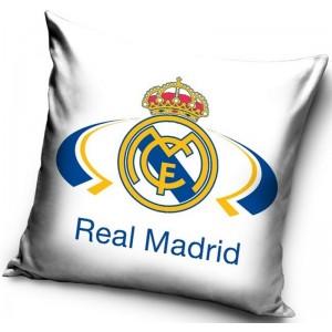Biela obliečka na vankúš so vzorom Real Madrid