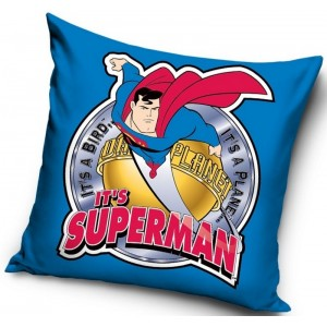 Modré obliečky na vankúše so Supermanom