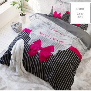 Ružové bavlnené posteľné obliečky Sweet Dreams