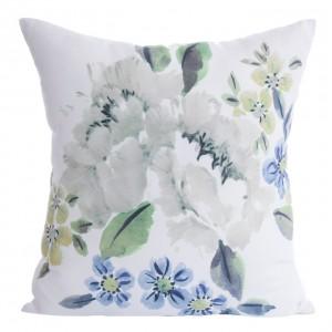 Dekoračná obliečka na vankúš s motívom kvetov