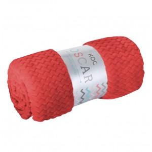 Červené deky do obývačky