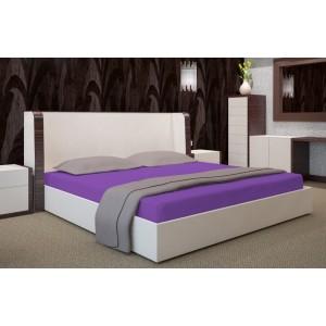 Fialové napínacie plachty na postele
