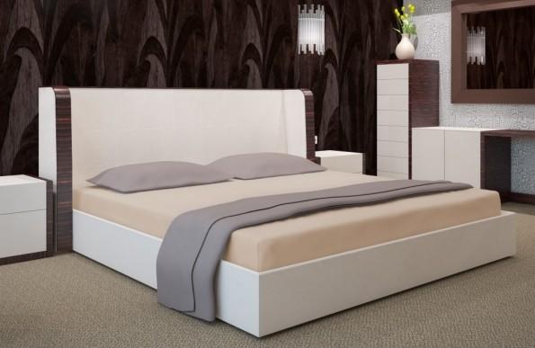 DomTextilu Bavlnené svetlohnedé prestieradla na postele Šírka: 90 cm | Dĺžka: 200 cm 7520-20430