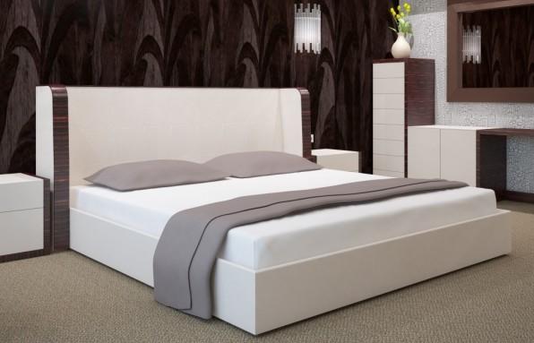 DomTextilu Biele bavlnené prestieradlá na postele Šírka: 90 cm | Dĺžka: 200 cm 7524-20450