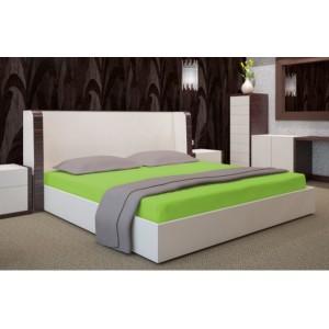 Sýto zelené bavlnené posteľné prestieradlo