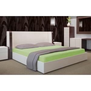Bavlnená zelená plachta na posteľ 200x220 cm