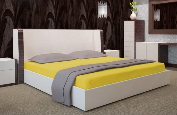 DomTextilu Žlté prestieradlá na postele Šírka: 90 cm | Dĺžka: 200 cm 7534-20500