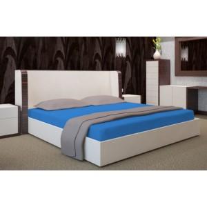 Modré napínacie plachty na postele