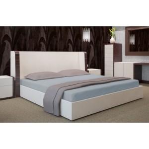 Sivá posteľná plachta 90x200 cm