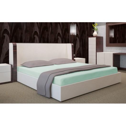 Zelené bavlnené prestieradlá na postele