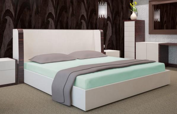 DomTextilu Zelené bavlnené prestieradlá na postele Šírka: 90 cm | Dĺžka: 200 cm 7540-20530