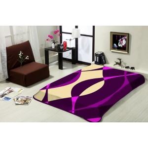 Hebká deka vo fialovej farbe