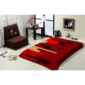 Bordová deka na posteľ