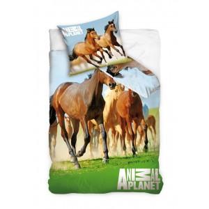 Bavlnené posteľné návliečky so vzorom koní