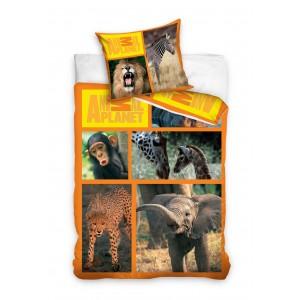 Detské posteľné obliečky so vzorom zvierat