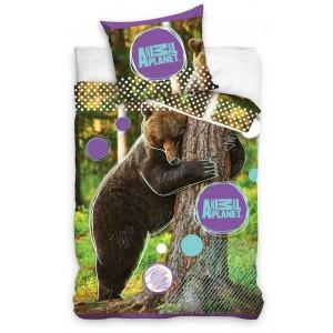 Bavlnené posteľné obliečky so vzorom medveďa