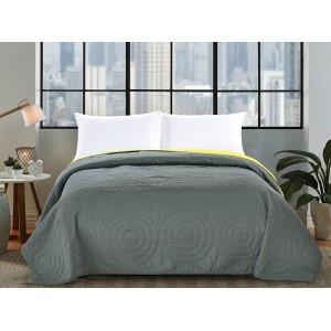 Sivé obojstranné prikrývky na posteľ 200x220cm