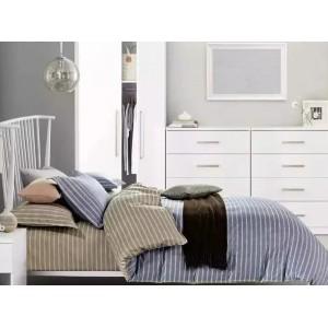 Sivá obojstranná posteľná bielizeň