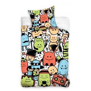 Detské posteľné obliečky s farebnými príšerkami