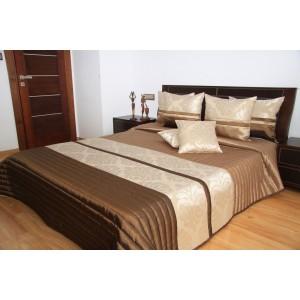 Luxusné hnedé prehozy na posteľ