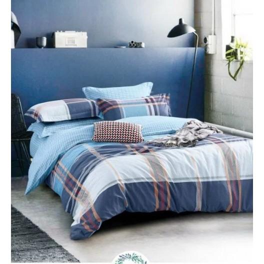 Modré obojstranné posteľné obliečky