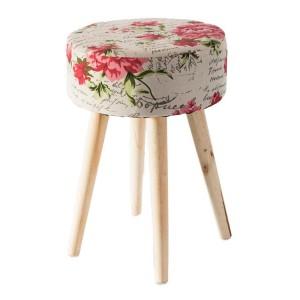 Štýlová kvetovaná taburetka do obývačky