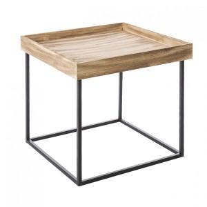 Dekoračný stolík na kovových nožičkách