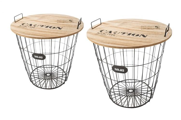 DomTextilu Súprava dekoračných stolíkov do záhrady 7810 krémová Moderný