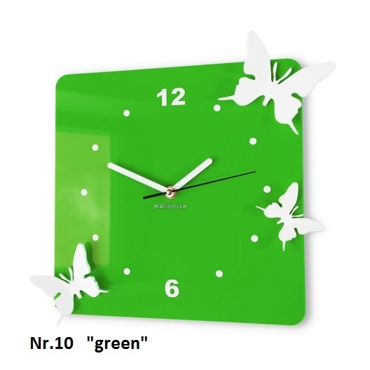 Nástenné dekoračné hodiny motýle