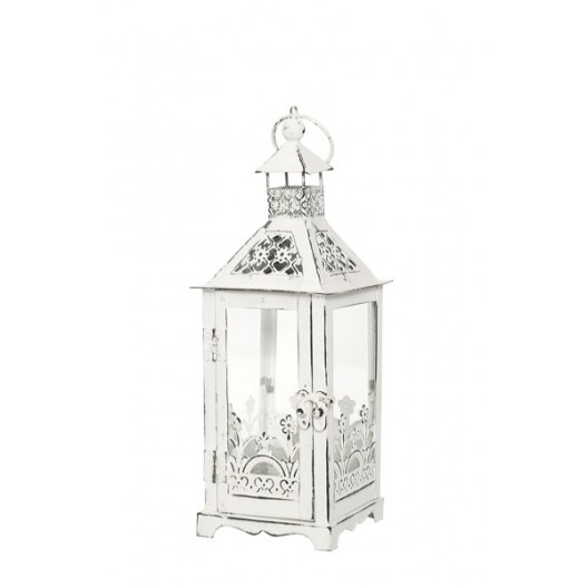 Ozdobný biely lampáš