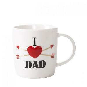 Béžový hrnček s nápisom I LOVE DAD