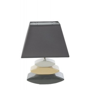 Tmavo sivé stolové lampy do spálne