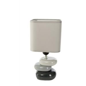 Moderné stolové lampy tmavo sivej farby
