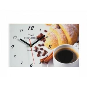Sivé nástenné hodiny do kaviarne